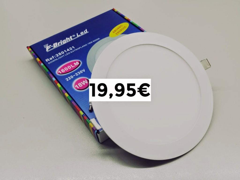Downlight LED extraplano 80 ahorro de energía roymar