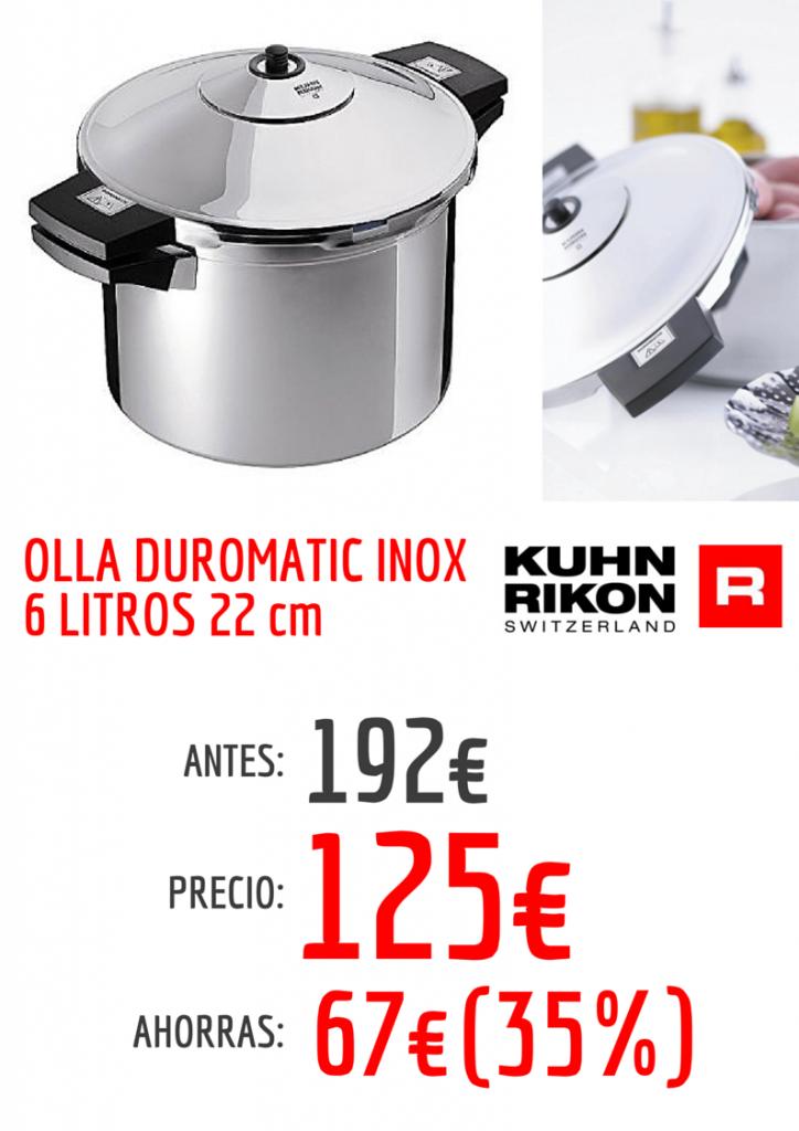 Duromatic Inox 6 litros Kuhn Rikon oferta roymar