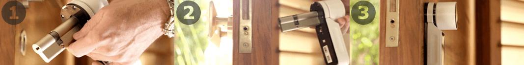 Cerradura inteligente Tesa ENTR roymar instalacion