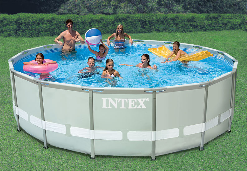 Piscina intex ultra frame 4 80 metros roymar for Alberca intex redonda
