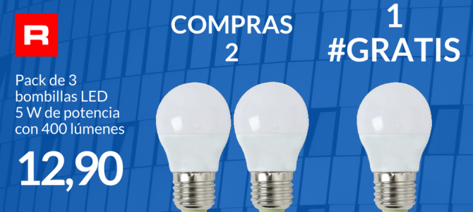 Pack 3 bombillas LED: compra 2 y te regalamos 1