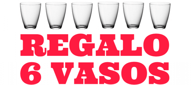 6 vasos de regalo por cada sartén que compres