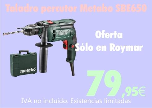 Taladro Metabo SBE650