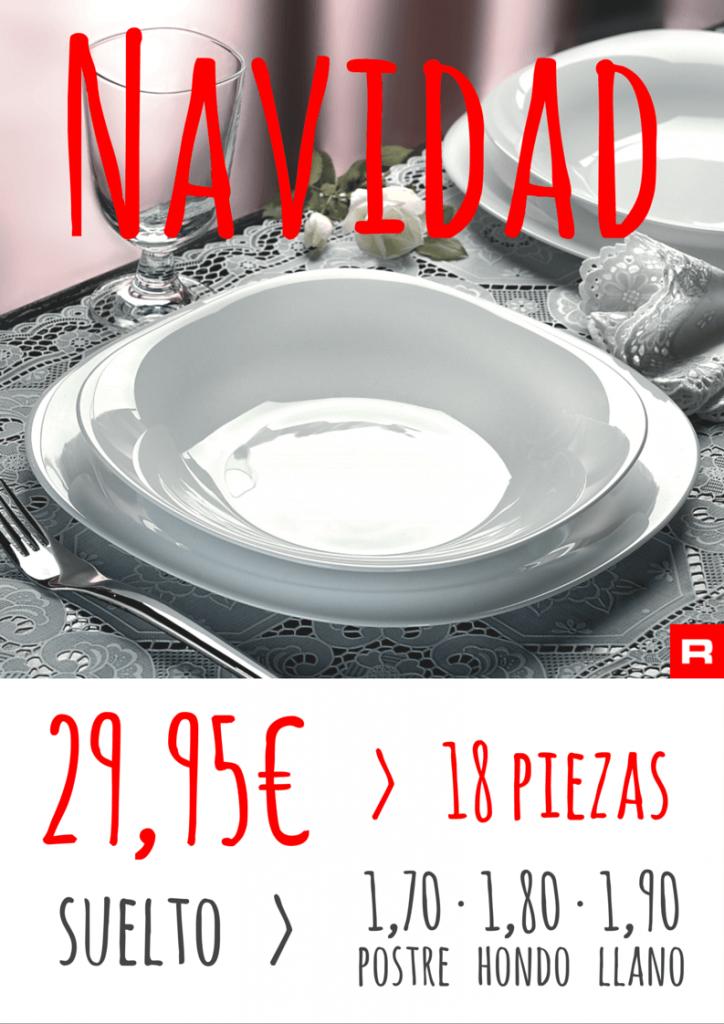 vajilla bormioli Especial Navidad roymar 2015